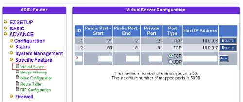 Как настроить виртуальный сервер в adsl